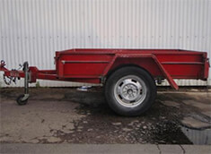 Single axel hire trailer