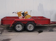 Double axel hire trailer